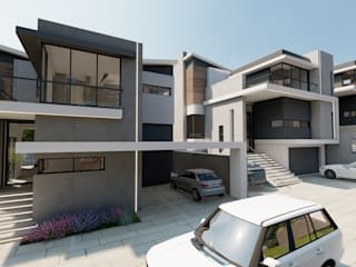 Ultra modern townhouse complex FRANCOIS MARAIS ARCHITECTS Modern houses