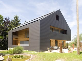 Einfamilienhaus in Gärtringen - Fassadenplatten Cedral Deutschland Einfamilienhaus Schwarz