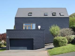 Einfamilienhaus in Kenn - Fassadenplatten Cedral Deutschland Einfamilienhaus Schwarz