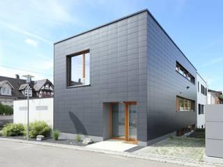 Einfamilienhaus in Ulm - Fassadenplatten Cedral Deutschland Einfamilienhaus Schwarz