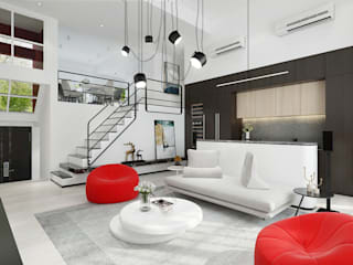 House in Royal Palms Minimalist living room by ED Design Limited Minimalist