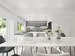 House in Royal Palms Minimalist dining room by ED Design Limited Minimalist