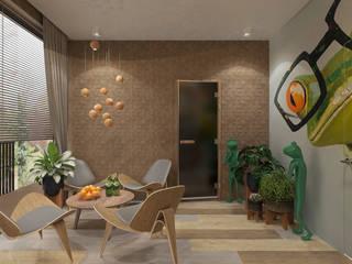 Paredes y pisos modernos de Студия дизайна и визуализации интерьеров Ивановой Натальи. Moderno