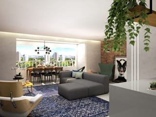 Arquiteto Virtual - Projetos On lIne Living room Concrete Grey