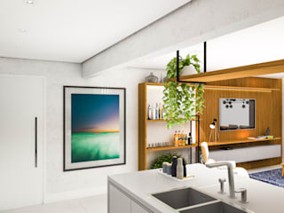 Arquiteto Virtual - Projetos On lIne Kitchen units Concrete Grey