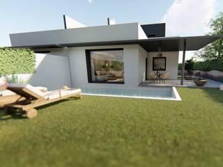 GF CONSTRUCCIÓN SOSTENIBLE S.L.U Casas de estilo minimalista