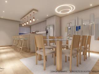 DISEÑO RESIDENCIAL - CASAS Y DEPARTAMENTOS Comedores de estilo moderno de Yeniffer Jimenez - Diseño y Decoración de Interiores Moderno
