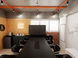 Mirá Arquitetura Study/office MDF Black