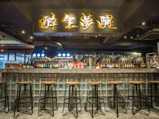 616 Mak's Hotpot Brewpub Industrial style gastronomy by ED Design Limited Industrial