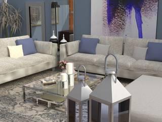 Casa Lo Barnechea AnnitaBunita.com Livings de estilo moderno Aluminio/Cinc Beige