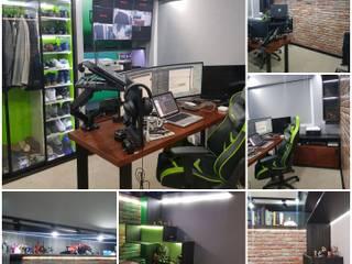 Home Office temático Video Juegos AnnitaBunita.com Oficinas y bibliotecas de estilo moderno Hierro/Acero Verde