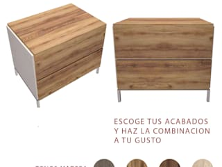 Nunco Mobler BedroomBedside tables Chipboard Wood effect
