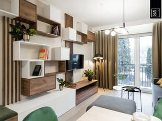 Livings de estilo moderno de KODO projekty i realizacje wnętrz Moderno