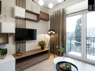 Modern living room by KODO projekty i realizacje wnętrz Modern