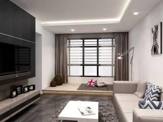Home interior designer in Chennai Modern living room by Blue Interior Designs Modern