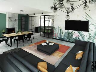 Studio4Design Living room Concrete Green