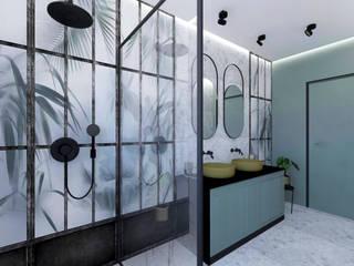 LUKSUSOWY APARTAMENT W ZAKOPANEM Nowoczesna łazienka od Studio4Design Nowoczesny