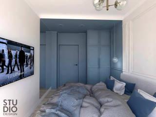 Studio4Design Modern style bedroom Wood Blue