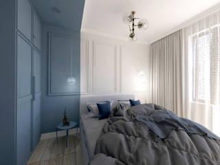 Studio4Design Modern style bedroom Engineered Wood Blue