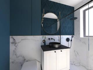 Studio4Design Modern style bathrooms Tiles Turquoise