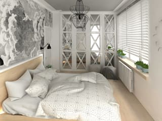 Studio4Design Rustic style bedroom Wood White