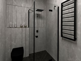 Studio4Design Modern Bathroom Tiles Grey