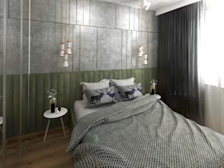 Studio4Design Modern Bedroom Concrete Metallic/Silver