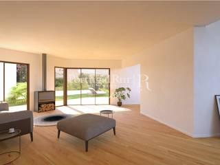 Moradia nova T3, Carcavelos Salas de estar modernas por PortugalRur Moderno