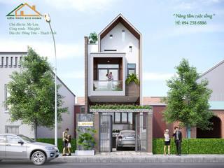 THIẾT KẾ NHÀ PHỐ 2 TẦNG ANH LƯU TẠI THẠCH THẤT bởi Công ty CP kiến trúc và xây dựng Eco Home