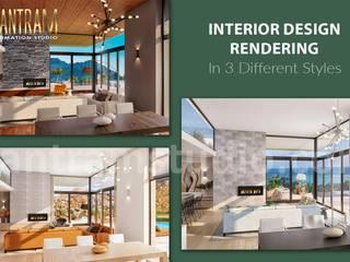 现代客厅設計點子、靈感 & 圖片 根據 Yantram Architectural Design Studio Corporation 現代風