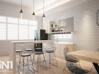 Impian Emas Office four in one design sdn bhd Modern dining room