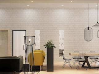 Impian Emas Office four in one design sdn bhd Living room