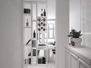 Kempas Condo Design four in one design sdn bhd Modern corridor, hallway & stairs