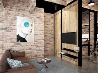 South Key Salon Design four in one design sdn bhd Living room