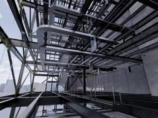 ConstruTech & Technology BIM Ruang Studi/Kantor Modern Beton