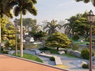 Thiết Kế Nhà Vườn Truyền Thống Bắc Bộ Tại Đồng Nai bởi SGL LANDSCAPE ARCHITECTURE CO.,LTD Đồng quê