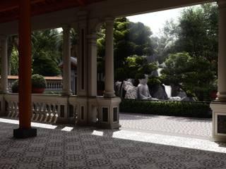 Thiết Kế Nhà Vườn Truyền Thống Nam Bộ Tại Đồng Tháp Hành lang, sảnh & cầu thang phong cách đồng quê bởi SGL LANDSCAPE ARCHITECTURE CO.,LTD Đồng quê