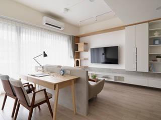 Ruang Keluarga Gaya Skandinavia Oleh 寓子設計 Skandinavia