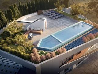 3D Modernes Haus mit Terrasse 3W IMAGE GmbH