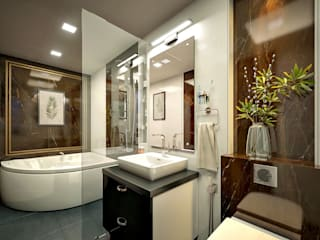 Monnaie Interiors Pvt Ltd BathroomMirrors Solid Wood Wood effect