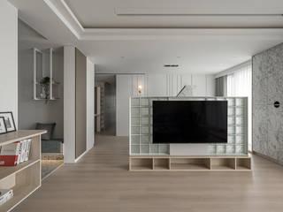 如柔 逸硯空間設計有限公司 客廳 玻璃 White