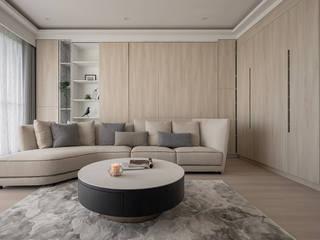 如柔 逸硯空間設計有限公司 客廳 木頭 Brown