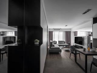 旅人 逸硯空間設計有限公司 现代客厅設計點子、靈感 & 圖片 Grey