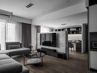 旅人 逸硯空間設計有限公司 现代客厅設計點子、靈感 & 圖片 大理石 Green