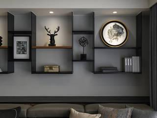 對畫 逸硯空間設計有限公司 现代客厅設計點子、靈感 & 圖片