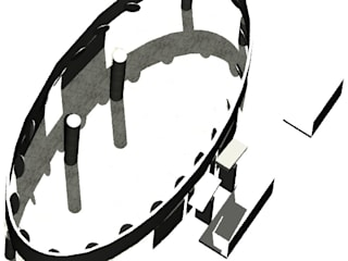 SALA BORROMINA Sala multimediale in stile classico di Aetneas Design Classico