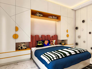 Ultra Modern Kids Bedroom in Raja Garden, New Delhi.: modern  by Lakkad Works,Modern