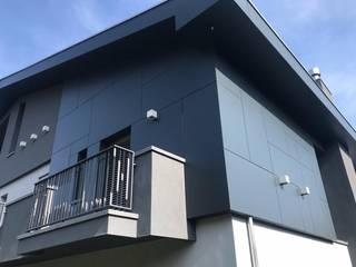 TRESPA METEON, pannello HPL per facciate ventilate, balconi, schermature solari, rivestimenti esterni. Sogimi spa Villa Grigio