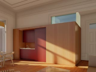 Apartamentos em edifício em reabilitação, Porto Salas de estar ecléticas por José Melo Ferreira, Arquitecto Eclético