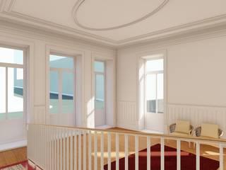 Apartamentos em edifício em reabilitação, Porto Corredores, halls e escadas clássicos por José Melo Ferreira, Arquitecto Clássico